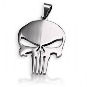 The Punisher Skull Pendant  Necklace Prop Replica